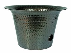 Liberty Garden Products 1913 Hammered Bell Garden Hose Pot   Copper  (Discontinued By Manufacturer)