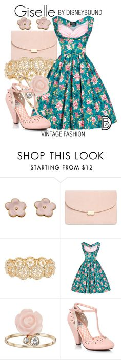 """""""Giselle"""" by leslieakay ❤ liked on Polyvore featuring M&Co, LC Lauren Conrad, vintage, disney and disneybound"""