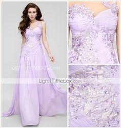 955dad086 ts couture® de noite formal vestido de uma linha de trem tribunal jóia  chiffon