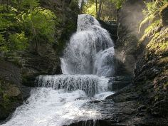 waterfall in the Pocono Mountains in Pennsylvania