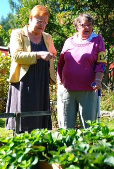 Tarja admires a garden