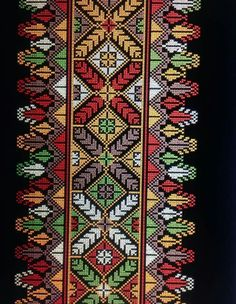 Ukraine , ♥ , from Iryna Palestinian Embroidery, Hungarian Embroidery, Folk Embroidery, Embroidery Patterns Free, Cross Stitch Embroidery, Embroidery Designs, Embroidery Dress, Cross Stitch Art, Cross Stitch Borders