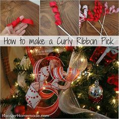 DIY Curly Ribbon Pick :: Instructions on HoosierHomemade.com