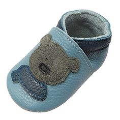 YIHAKIDS Soft Sole Baby Shoes Infant Toddler Leather Moccasins Cute Bear Slippers 665 US 612 Mo51in Light Blue *** Click image to review more details. (This is an affiliate link and I receive a commission for the sales) #BabyShoes