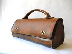 Tool Bag, Small Valise, Doctor's Bag, or Unique Ladies Handbag Leather Briefcase, Leather Tooling, Leather Purses, Leather Handbags, Leather Bag, Trendy Handbags, Purses And Handbags, Coin Purses, Cheap Handbags