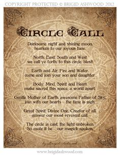 Circle Call -  Pagan Wiccan Print - Brigid Ashwood. $15.00, via Etsy.