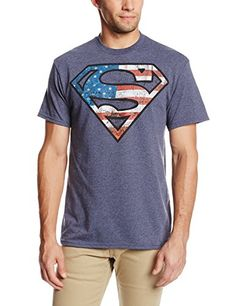 e1c9304ebbbb5 DC Comics Mens Superman Dont Tread TShirt Navy Heather XXLarge -- Check out  this great