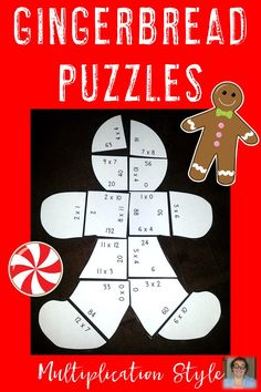 Do your students love gingerbread? Use that love to your advantage by giving them gingerbread man theme math centers! These are perfect for review or early & fast finishers in your 3rd or 4th grade classroom. And homeschool children will enjoy these! Basic multiplication fact practice will be challenging fun when you start using these three puzzles! Great for the Christmas and winter seasons or anytime in December. Click through to get yours now! $ {third & fourth grade}