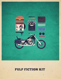 "Curioos.com   ""Pulp Fiction Kit"" by Alizée Lafon (France) - http://pinterest.com/curioos"