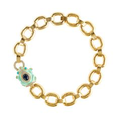$138 Enameled frog collar necklace