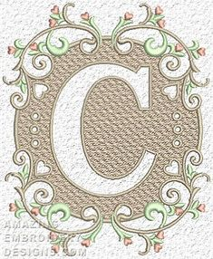 Free Embroidery Design: Letter C
