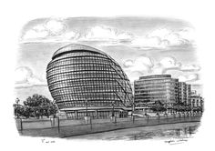 New Mayors Office City Hall - drawings and paintings by Stephen Wiltshire MBE