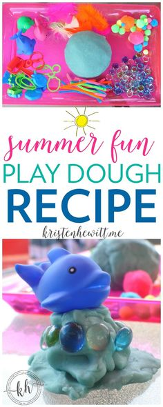 Are you looking for an easy activity for your kids this summer? Try this summer fun play dough recipe! Simple for parents and fun for kids! Summer Activities For Kids, Fun Crafts For Kids, Summer Kids, Diy For Kids, Toddler Crafts, Toddler Fun, Summer Crafts, 4 Kids, Sensory Activities