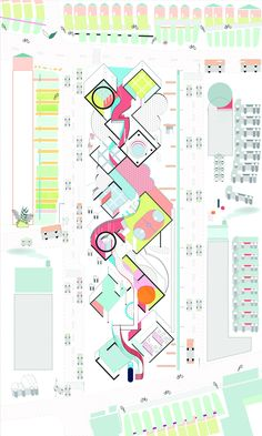 Pearl Ting Ting Ho Drawing Comes First_A landscape of Colour Fields Yale school of Architecture Architecture Concept Diagram, Architecture Graphics, Architecture Student, Architecture Drawings, Architecture Plan, Pavilion Architecture, Architecture Diagrams, Mos Architects, Urban Planning
