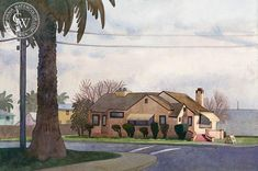 Final Sunset for Dutro's, 2008, art by Carolyn Lord – California Watercolor