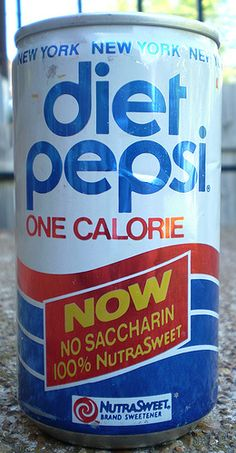 Old Diet Pepsi Soda Can