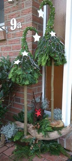 Decorations noel avec elements naturels