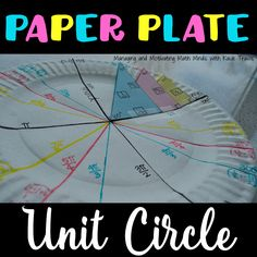 Paper Plate Unit Circle, Color-coded  NO MORE MEMORIZING #unitcircle