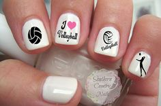 Sports Volleyball Nail Art Decals by SouthernCountryNails on Etsy