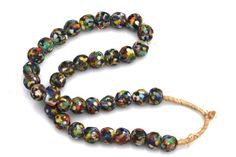 Confetti Multi-Colored Beach Glass Strand African Trade Beads – Yourgreatfinds