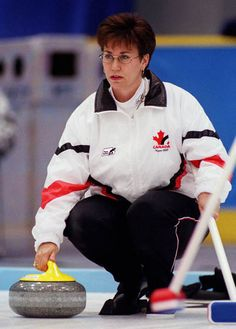 Sandra Marie Schmirler - Saskatchewan curler who, with her team of Jan Betker, Joan McCusker and Marcia Gudereit captured three Canadian Curling Championships, three World Curling Championships and a gold medal at the 1998 Winter Olympics Women's Curling, I Am Canadian, Sport Hall, Cute Posts, Winter Games, We Are The World, Winter Olympics, Curlers, Athlete