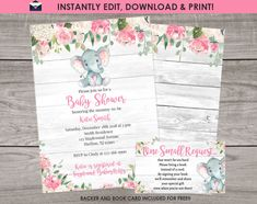 ★ Brand New From Our Shop - Download and Edit Our Invitations Yourself! ★ Please read the details below: ✪ Important! These files can ONLY be edited on a desktop computer internet browser. These cannot be edited on a mobile phone or tablet. ▶Try before you buy! Want to see what the