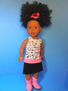 "Madame Alexander 18"" African American Doll Dressed"