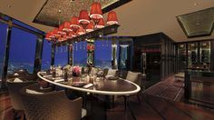 The Ritz-Carlton, Hong Kong Tosca's private dining room, Floria, is the ideal venue for an intimate business dinner, family gathering or small celebration