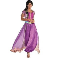 Party City Purple Jasmine Halloween Costume for Women, Aladdin Live Action, with Accessories Jasmine Halloween Costume, Halloween Dress, Halloween Costumes For Kids, Costumes For Women, Halloween Sewing, Teen Costumes, Woman Costumes, Pirate Costumes, Couple Costumes