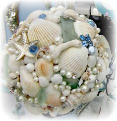 Our shell and sea glass topiary is featured in The Best Gifts Are Hand Crafted by Paula Rodriguez on Etsy Sea Glass Crafts, Seashell Crafts, Shells And Sand, Sea Shells, Pearl Crafts, Ocean Home Decor, Rock Decor, Mosaic Crafts, Shell Art