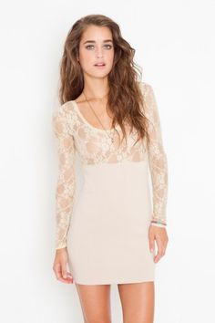 lace dress from nasty gal