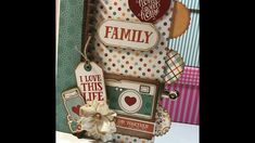 TUTORIAL ÁLBUM SCRAPBOOKING ¨I LOVE FAMILY¨ Love My Family, My Love, Album Scrapbook, A Day In Life, Mini Albums, Videos, Tutorials, Holiday Decor, Tips