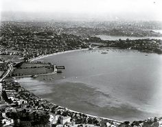 Rose Bay, Sydney (looking West), August 1937 . Royal Society Of Arts, Bronte Beach, Rose Bay, Growing Orchids, Local History, Geography, Fresh Water, Airplane View, Sydney