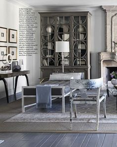 Mary Mc Donald / Living room /  interior design & decor / Neutral / Taupe & Blue