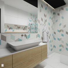 Wilanów - 100m2 - Średnia łazienka w bloku w domu jednorodzinnym bez okna, styl skandynawski - zdjęcie od TutajConcept