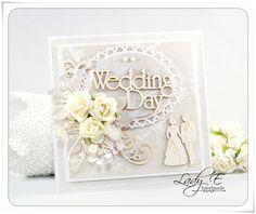 Wedding card handmade diy vintage Ideas for 2019 Wedding Cards Handmade, Handmade Birthday Cards, Handmade Cards, Wedding Scrapbook, Scrapbook Cards, Scrapbooking, Wedding Book, Wedding Vintage, Guest Book Table