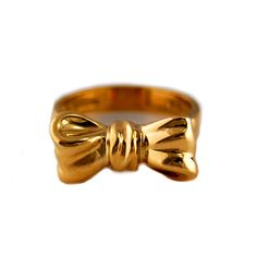 Tiffany Bow Ring 18 Karat Bright and bold 18 karat yellow gold bow ring by Tiffany & Co.