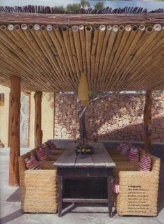 Paneles En Cañas Tacuara Bambu
