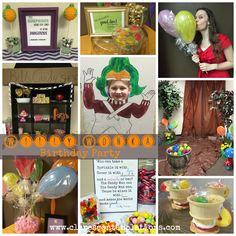 Willy Wonka Birthday Party-are you looking for a whimsical party theme? This is such a fun and colorful party, lots of inexpensive ideas for making it unique and memorable. Love the mushrooms!