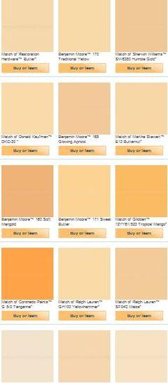 Yellow-orange paint colors (master bedroom).