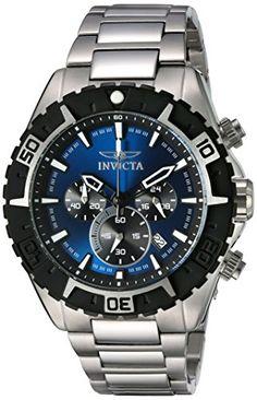 bbae4ba3fa5c Invicta Men s 22526 Aviator Analog Display Swiss Quartz Silver Watch     Details can be found