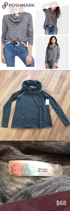 New Free People Beach Cowl Neck Sweater M/L The size is an M/L where it will fit either of those sizes! No matter which size you choose you'll get this same sweater that's a Size M/L! ⚜️I love receiving offers through the offer button!⚜️ Perfect brand new condition, as seen in pictures! Fast same or next day shipping!📨 Open to offers but I don't negotiate in the comments so please use the offer button😊 Check out the rest of my closet for more Adidas, Lululemon, and American Apparel…
