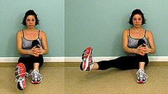 No Equipment Necessary: Seated Sweeping Leg Lift
