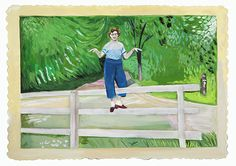 """Girls Standing on Lawns by Maira Kalman and Daniel Handler """"My whole life I have not known  where to put my hands."""""""