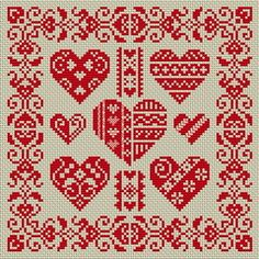 hearts monocromaticos