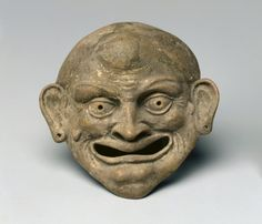 Mask Terracotta roman or greek Cleveland Museum