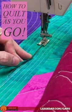 How to Connect Large Quilted Blocks – Quilt-As-You-Go Tutorial – quilt tutorials – einrichtungsideen wohnzimmer Quilt Baby, Rag Quilt, Shirt Quilt, Patch Quilt, Quilting For Beginners, Quilting Tips, Quilting Tutorials, Beginner Quilting, Quilting Projects