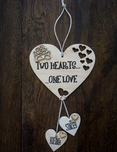 Shabby Chic Personalised Wedding Engagement Gift Present Plaque Sign Heart