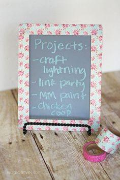 Washi Tape Chalk Board #chalkboard #washitape #craft