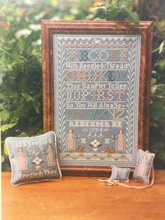 Mary Garry's Sewing Cabin REMEMBER ME sampler